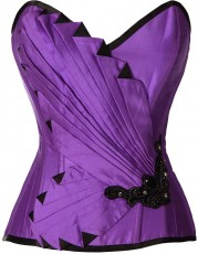 Violet corset top in burlesque style