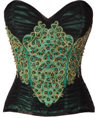Classically styled burlesque costume top